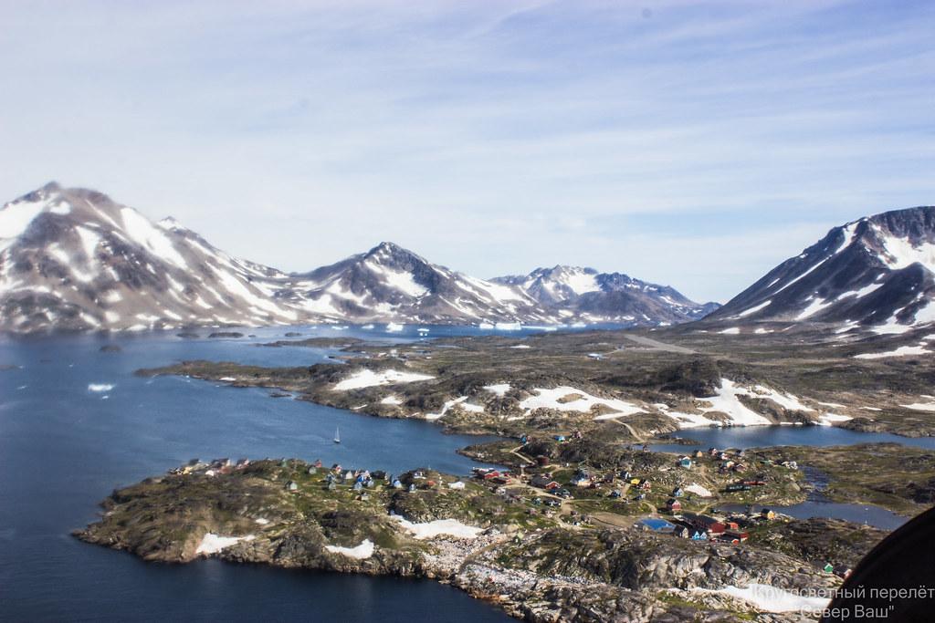 Гренландия, Кулусук - свалка мусора ведётся прям в океан
