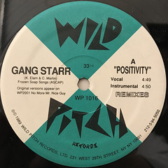 GANG STARR:POSITIVITY(LABEL SIDE-A)