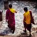 Tibetan Monks At The Bodhnath, Kathmandu