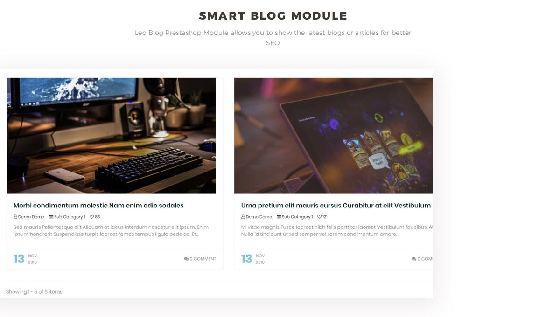 smart blog module - Bos Atari Gaming Prestashop theme