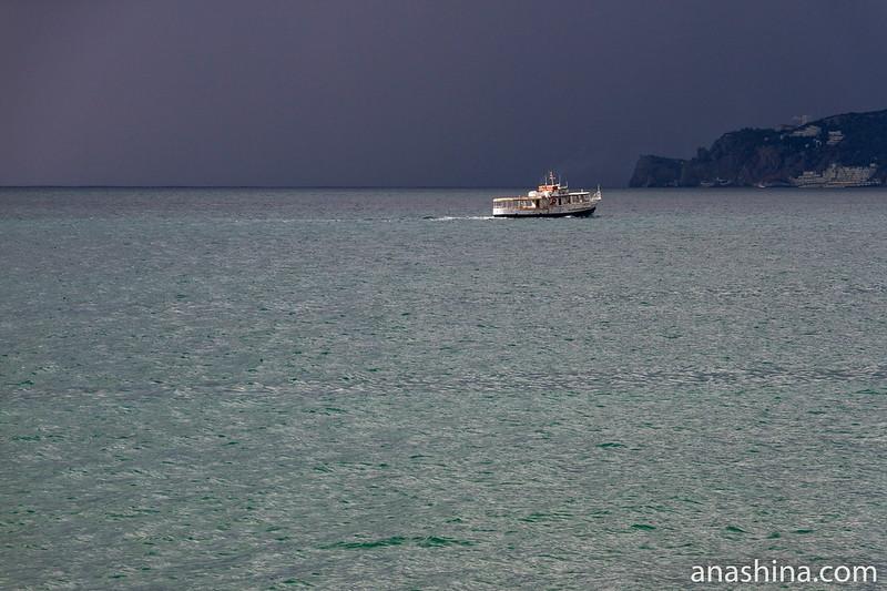 Буря надвигается, Черное море, Ялта, Крым