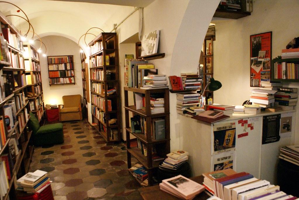 A l'intérieur de la Libreria Falso Demetrio à Gênes