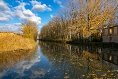 Canal de Castilla-Reflejos desde la esclusa 6