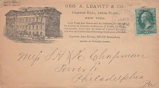 Leavitt & Co letter to Chapman