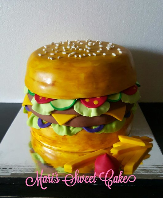 Burger Cake by Mari's Sweet Cake