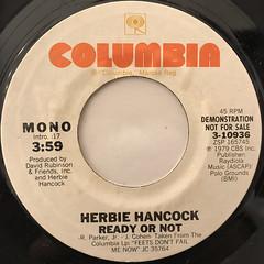 HERBIE HANCOCK:READY OR NOT(LABEL SIDE-B)