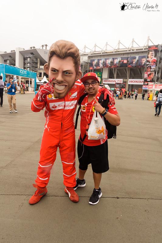 With Sebastian Vettel (Uhm, Close Enough!)