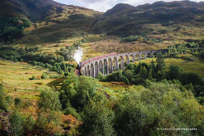Hogwarts Express at Glenfinnan Viaduct