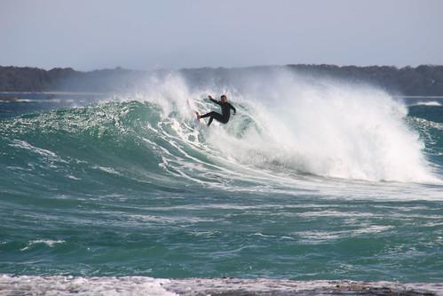 Surfing at Berrara