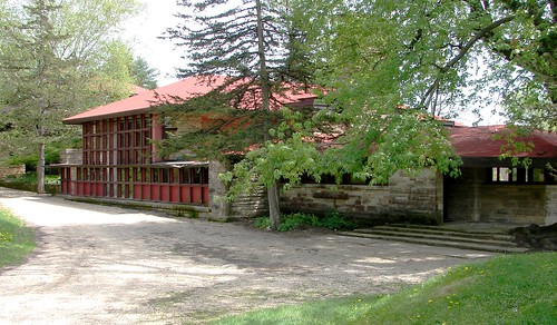 Back Side of Fellowship Complex at Taliesin, Wisconsin