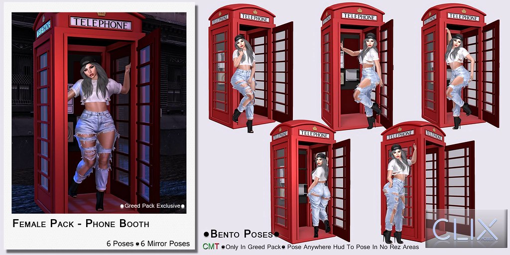 Clix Female Phone Booth Ad - TeleportHub.com Live!