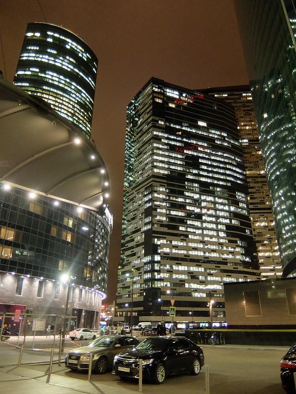 Москва-Сити - Вид снизу
