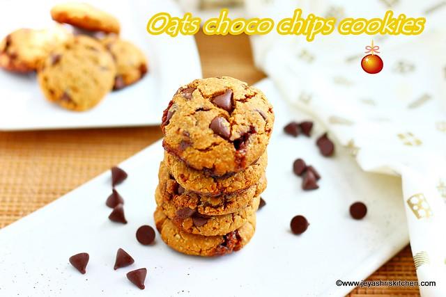 Eggless oats cookies