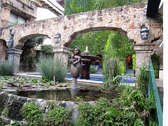 In the garden of our hotel, the Quinta Real