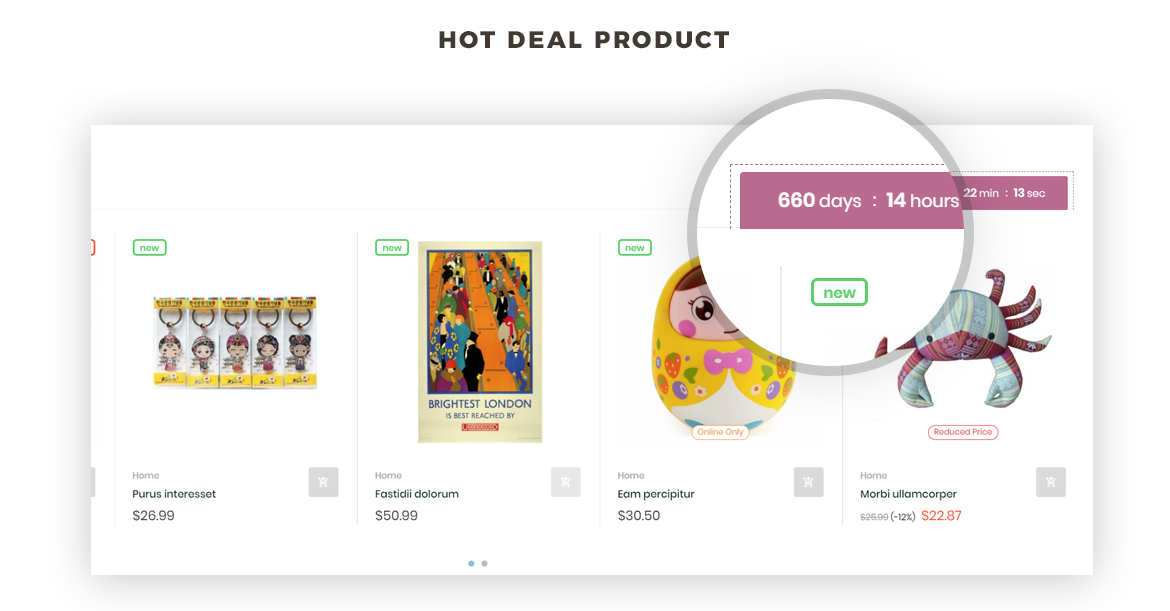 Deals - Countdown widget - Leo Zurich - Gifts and Souvenirs shop