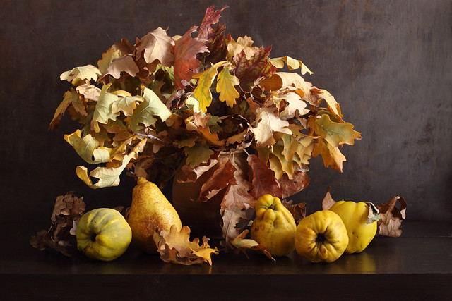 Oak Leaves Bouquet With Fruits