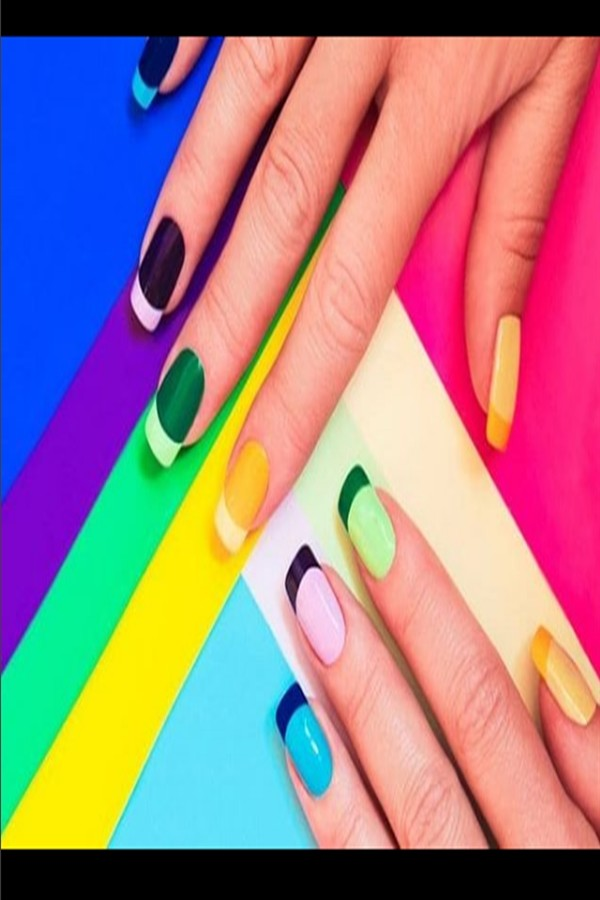Top 33 Multi Colored Nail Art Design Ideas #multicolor_nails #multi-color_nail_art #nail_art_designs