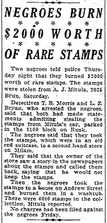 HC Oct 12, 1934, 6 Joe Mitula stamps stolen article