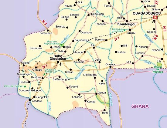 kaartje Burkina Faso