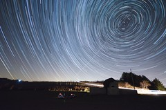 Star Trail Monte Romano