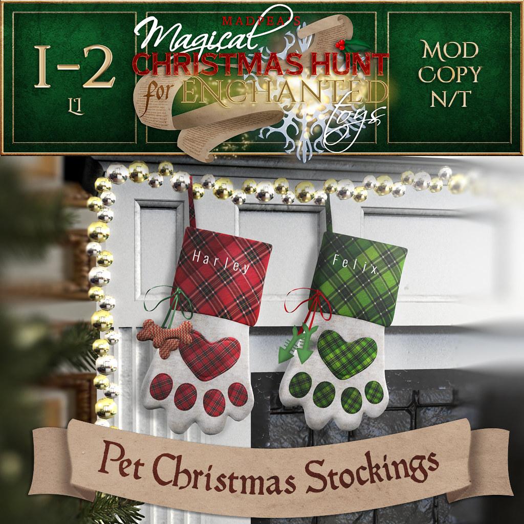 Pet Christmas Stockings MadPea Christmas Hunt Prize!