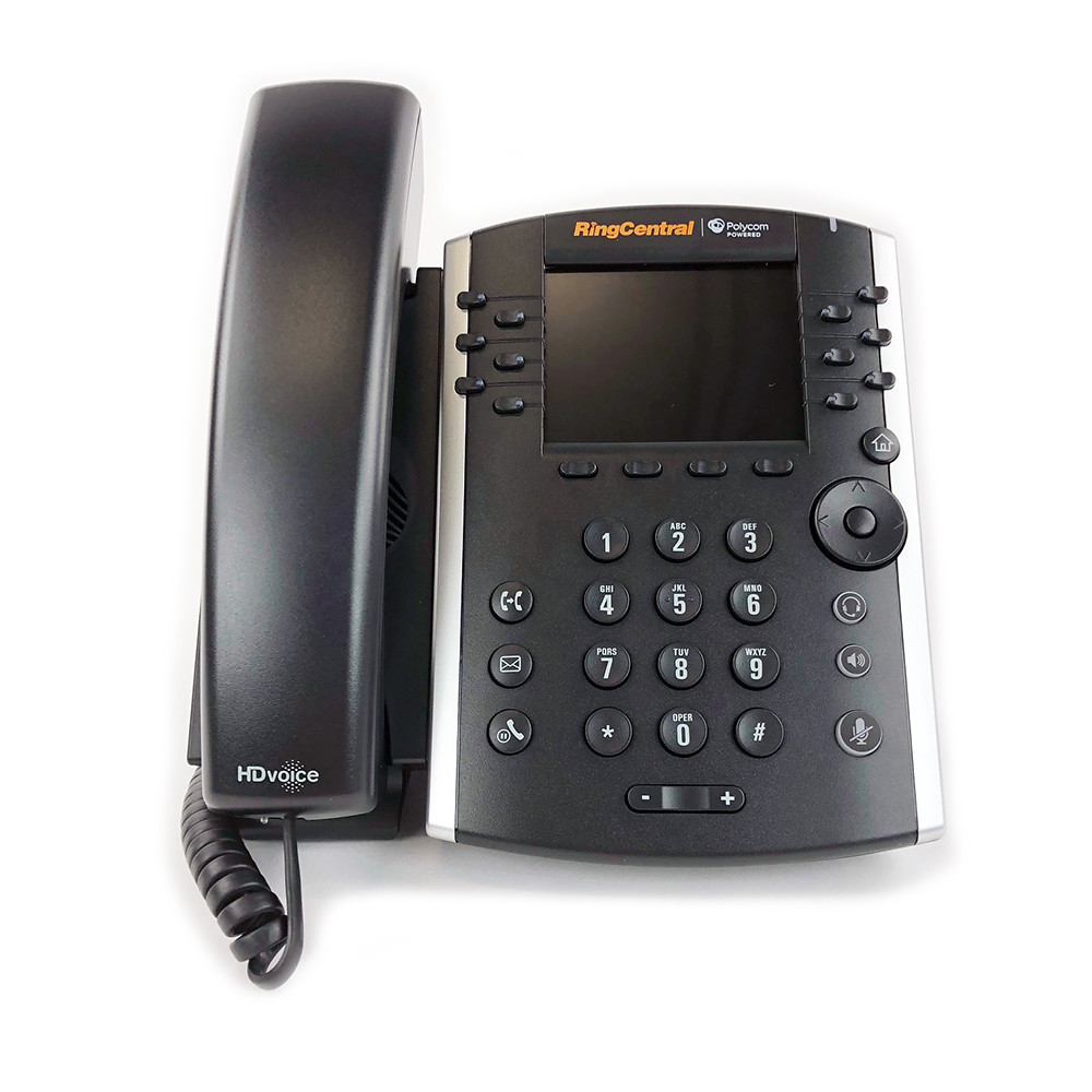 AC Power Supply Included Polycom VVX 410 IP Phone for RingCentral 2314-46162-001