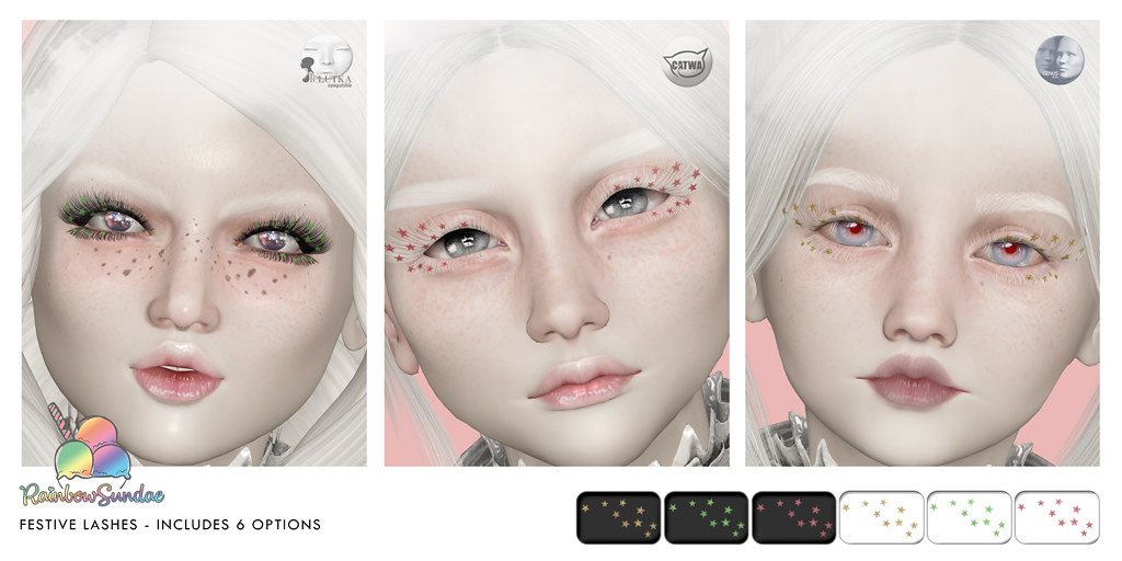 *Rainbow Sundae* Festive Lashes @ The Liaison Collaborative