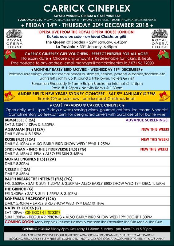 Carrick Cineplex 14th-20th December
