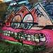Road bridge art - Hackney Wick, London E15