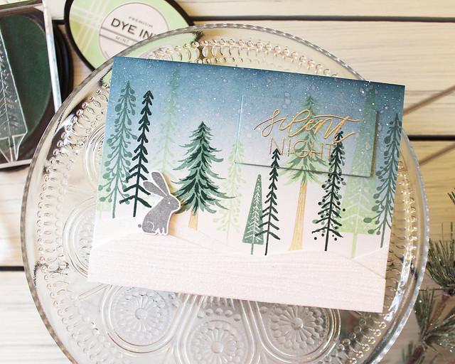 LizzieJones_PapertreyInk_November2018_EnchantedForest_SilentNightCard