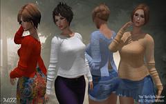 "MOZ ""Nea"" Split Back Sweater"