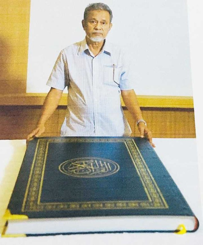 4781 Indian Muslim to donate the largest copy of the Holy Quran to Makkah Library 01