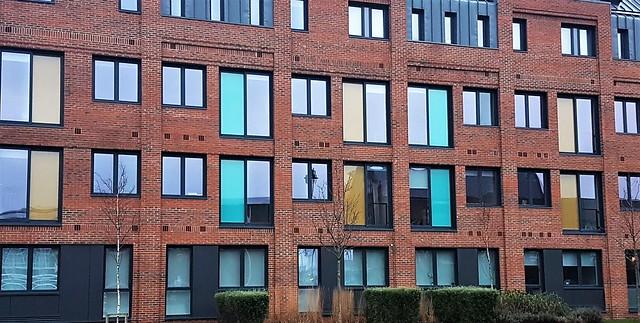 Coloured Windows - Port of Blyth Building