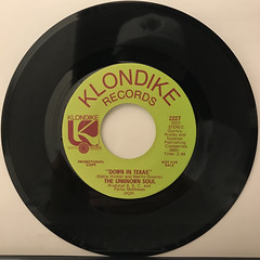 THE UNKNOWN SOUL:DOWN IN TEXAS(RECORD SIDE-B)