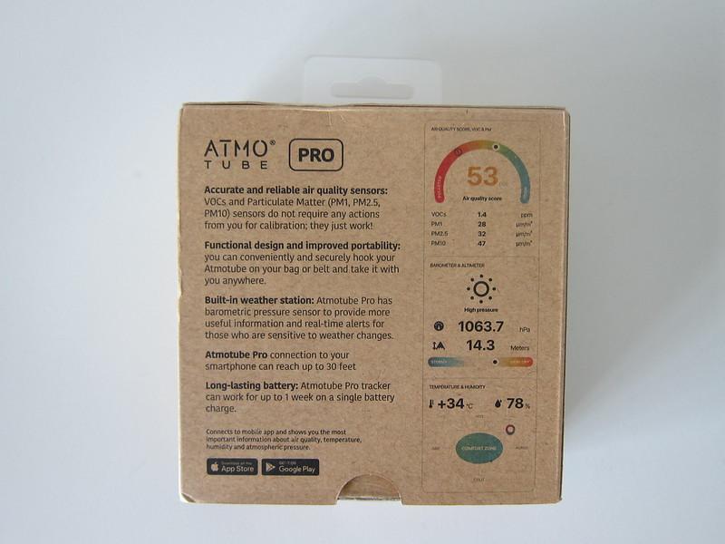 Atmotube Pro - Box Back
