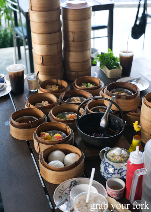 Dumplings, dim sum and bak kut teh for breakfast at Super Dim Sum in Phuket Thailand