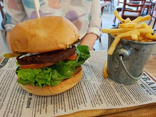 Vegan Cheese Burger at Suburban Cafe