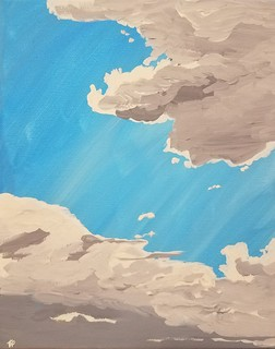 Clouds, acrylic on canvas I painted