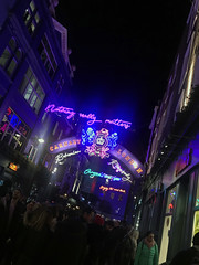 Queen tribute in Soho, London, UK.