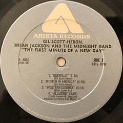 GIL SCOTT-HERON, BRIAN JACKSON AND THE MIDNIGHT BAND:THE FIRST MINUTE OF A NEW DAY(LABEL SIDE-B)