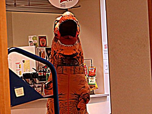 library dinosaur