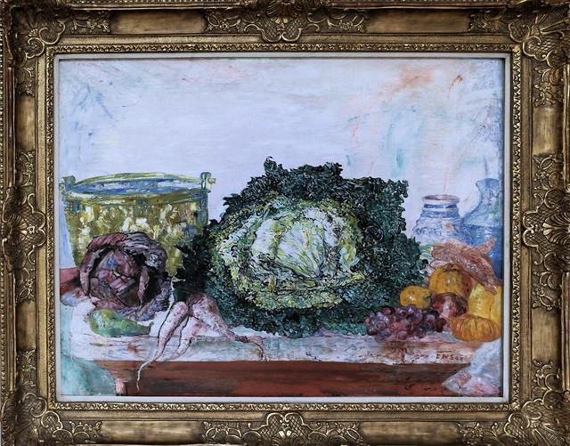 Photo:IMG_4553J James Ensor.   1860-1949. Bruxelles Ostende.   Le chou frisé. Kale. 1894  Essen Folkwang museum By jean louis mazieres