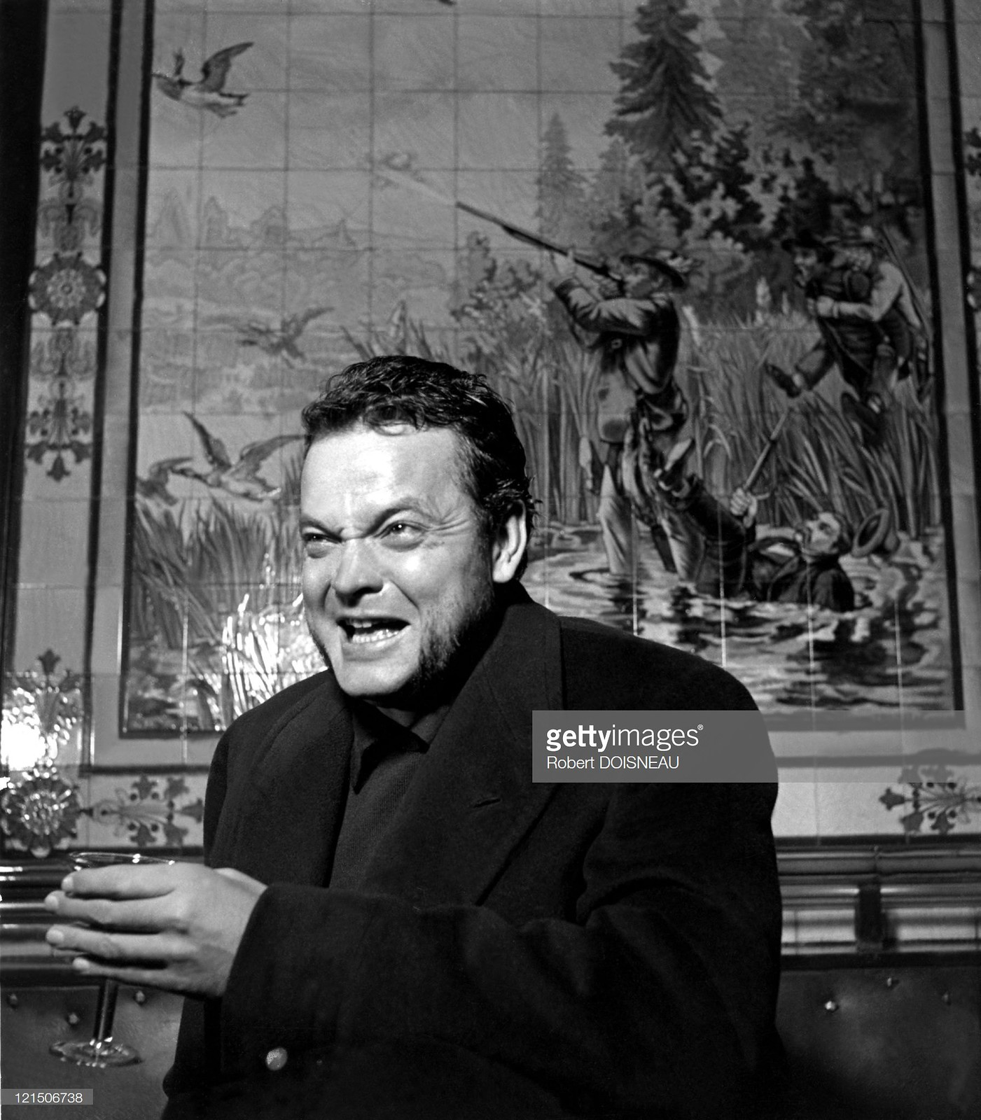 1950. Орсон Уэллс в кафе «Охотники»