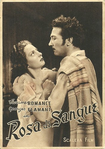 Viviane Romance and Georges Flamant in Rose di sangue (1940)