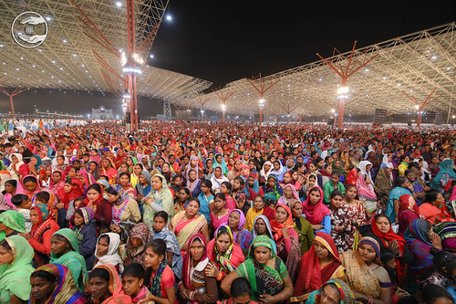 A view of devotee attending Samagam