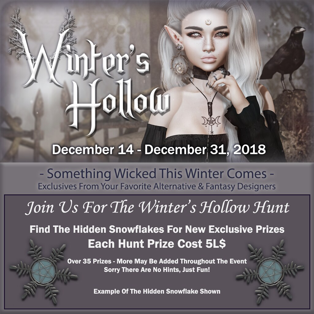 Winter's Hollow – 5L$ Hunt Info – 2018