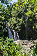 Upper Waikani Falls Maui Hawaii Road to Hana