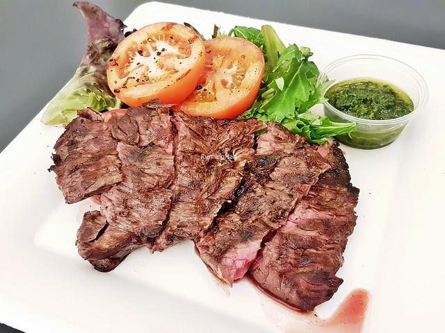 Grilled Australian Rosedale Ruby Flap Beef Steak, Coriander Verde Sauce