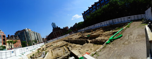 Pano of excavation for a new North St Lawrence Market, 2017 07 15 -i