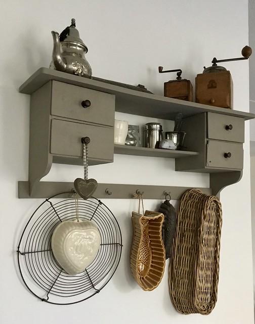 Kapstokje keuken brocante accessoires